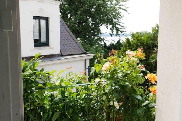 Blick auf die Elbe vom  Institut für Sprachen in Blankenese - Mathilde Mag